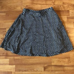 Cynthia Rowley black and white chevron skirt